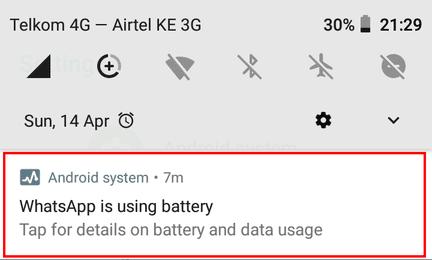 WhatsApp is using battery