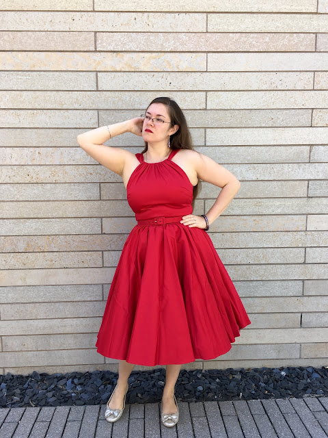 pinup girl clothing red Harley dress