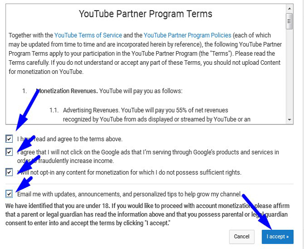 process to monetise you tube video