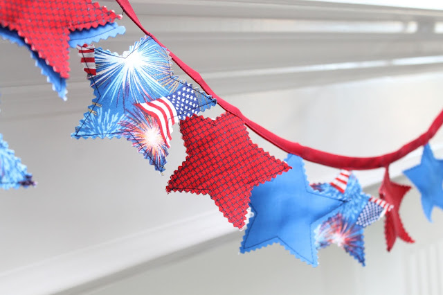 How to make a star bunting pdf pattern
