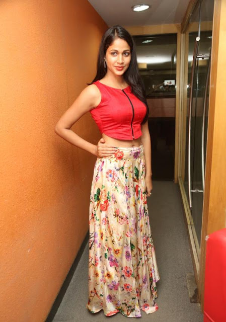 Lavanya Tripathi in Long Skirt and Crop Top