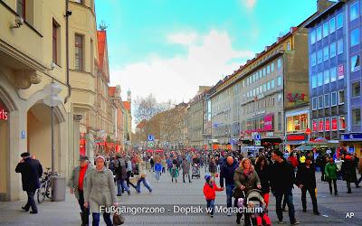 Fußgängerzone - Deptak w Monachium