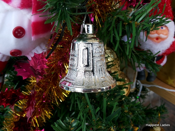 silver bells snowman christmas tree ornameny