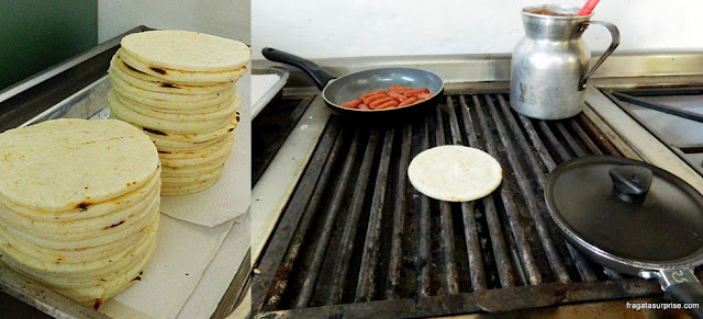 Arepa de trigo, prato típico de Villa de Leyva, Colômbia