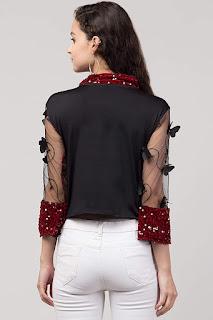 Relipop Women's Sheer Chiffon Blouse Loose Tops Kimono Floral Print Cardigan at Amazon Women's Clothing store
