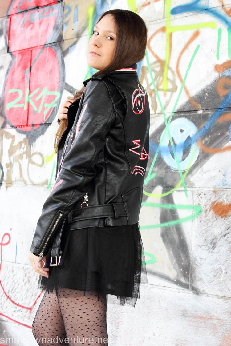 Kolumne Erfolg Instagram, OotD, Fashionblogger, Lederjacke, Rock Chic, Tüllrock, Instagram Erfolg