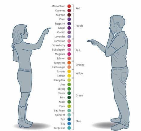 Mulheres veem mais tonalidades de cores que os homens