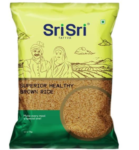 Sri Sri Tattva Superior Health Brown Rice,1kg (Pack of 3)