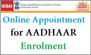 Book Appointment for aadhar card enrollment logo