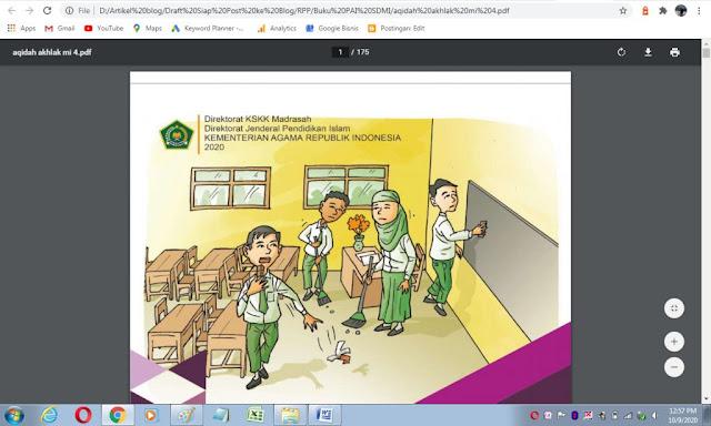 Buku akidah akhlak kelas 4 mi sesuai kma 183 tahun 2019 kurikulum PAI