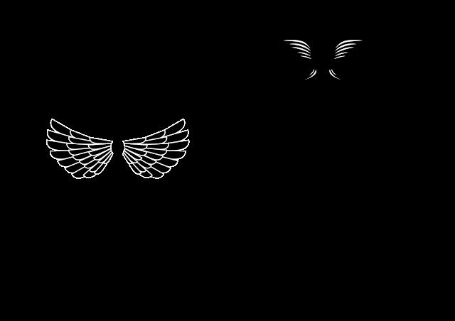 vektor sayap keren
