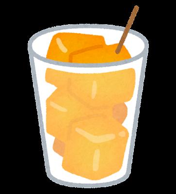 カップに入ったメロンのイラスト(オレンジ)