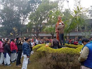 Jaunpur : श्री गांधी स्मारक इंटर कालेज समोधपुर में मनायी गयी स्वामी विवेकानंद की जयंती