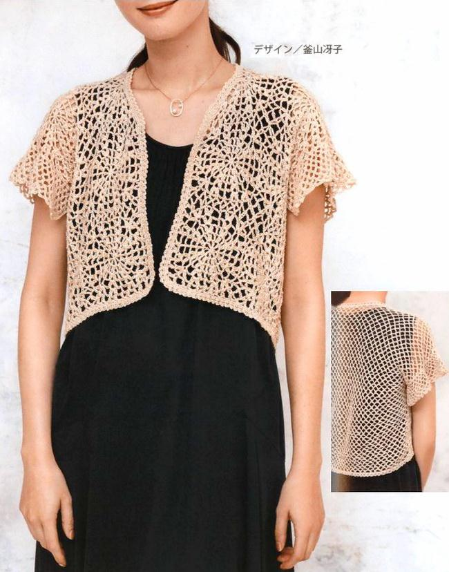 Crochet Lace Bolero - Elegant And Easy