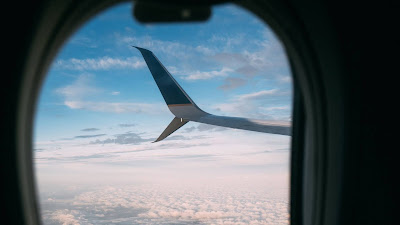 HD wallpaper porthole, plane, wing, clouds
