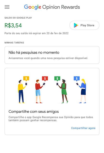 Tela Google Rewards