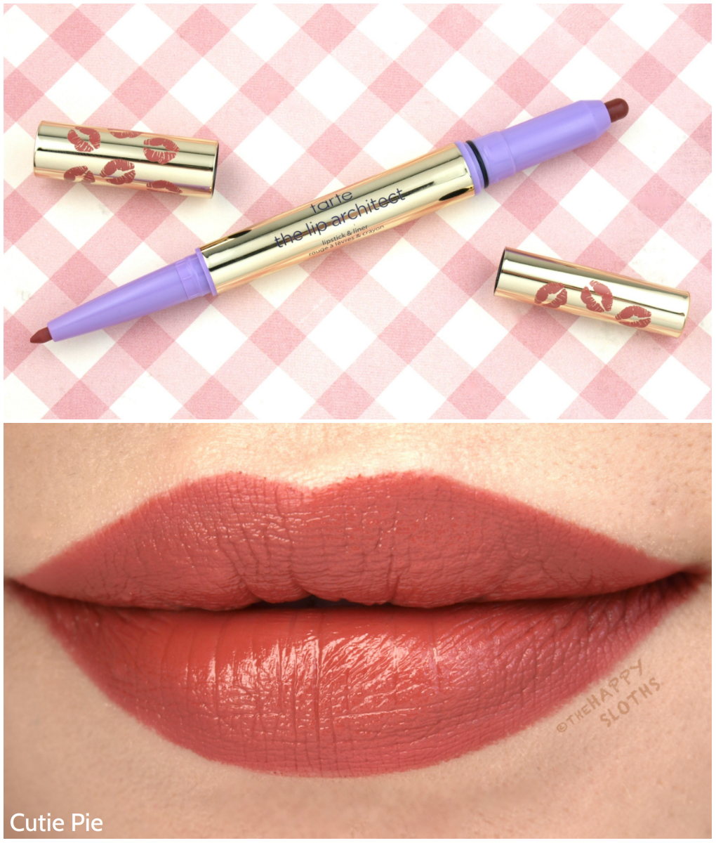 "Tarte The Lip Architect Lipstick & Liner in ""Cutie Pie"": Review and Swatches"