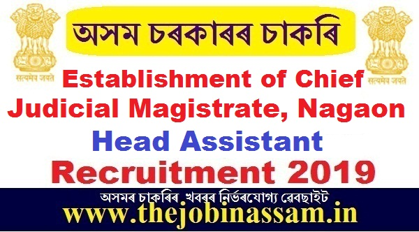 Establishment of Chief Judicial Magistrate, Nagaon Recruitment 2019