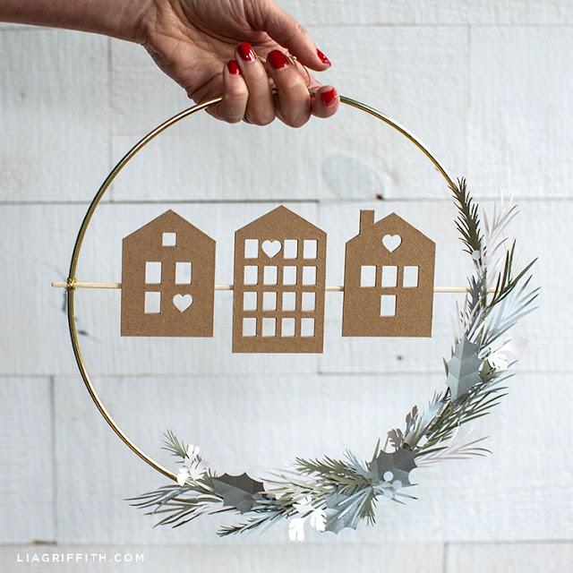 diy house christmas wreath