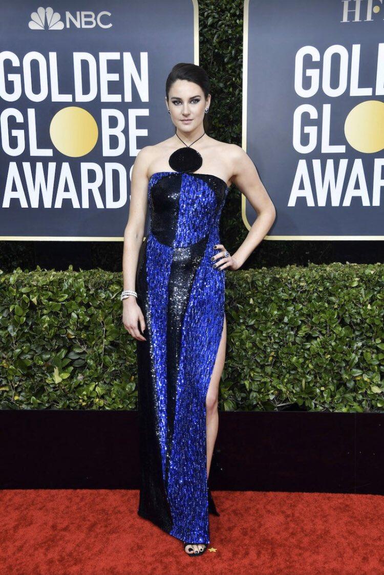 Shailene Woodley wears daring Balmain to the 2020 Golden Globe Awards