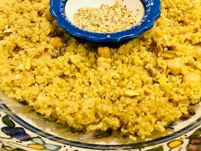 quinoa and chickpea Moroccan style