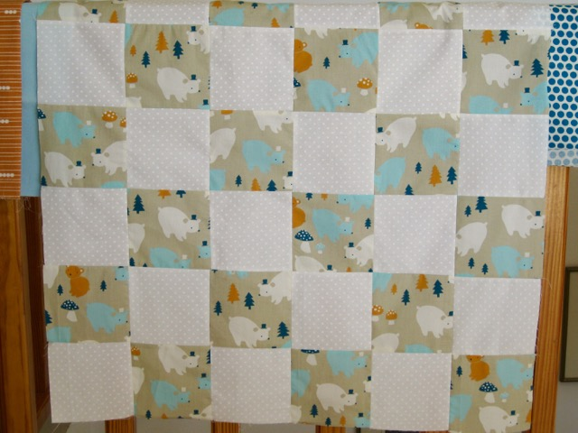 One Patch baby quilt top