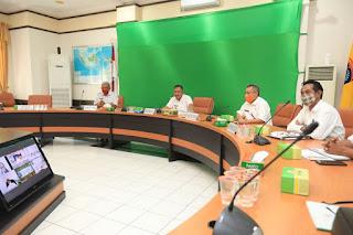 Rapat Koordinasi Melalui Video Conference bersama KPK dan Balai Karantina Pertanian Kelas II Kota Tarakan dan Unsur Pemda Se-Kaltara