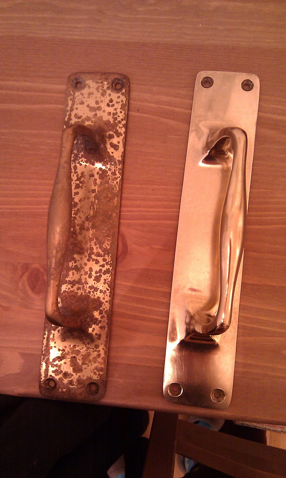 Mrs H  the blog How to clean brass handles and stuff