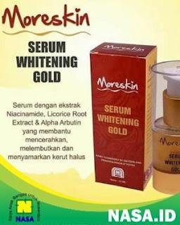 Moreskin Serum Whitening Gold Memudarkan Flek Hitam