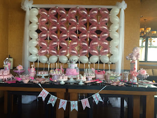 Baby shower cake table decoration