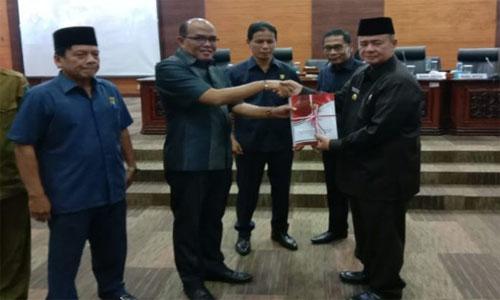 Wakil Gubernur Sumatera Barat Nasrul Abit  Samapaikan Nota Pengantar RAPBD Provinsi Sumatera Barat Tahun 2020
