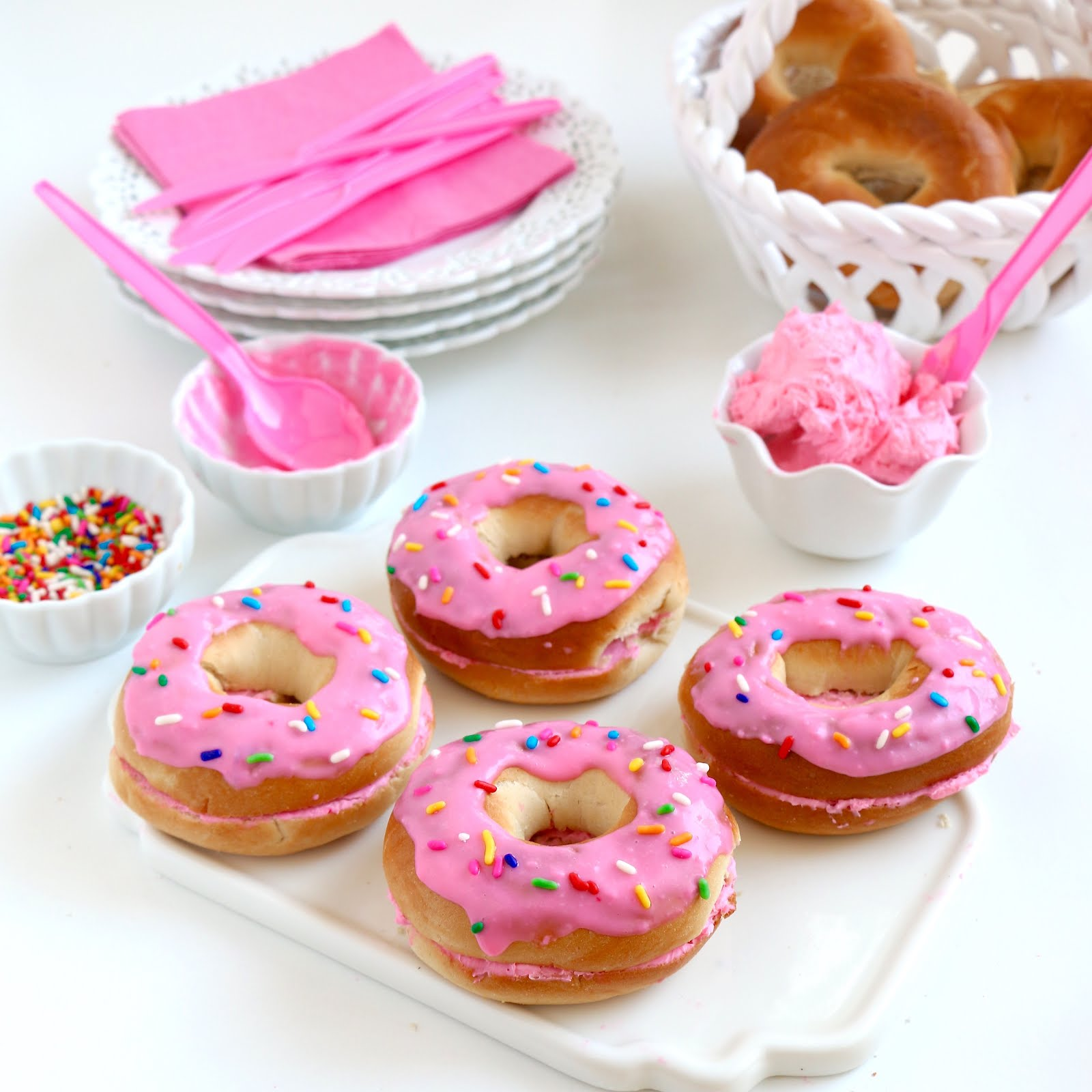 Easy No-Bake Bagel Donuts - The Lindsay Ann