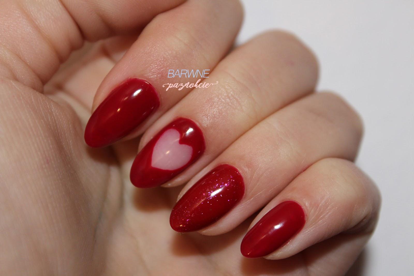 Semilac 071 Deep Red - manicure na walentynki