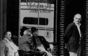 Fat Tony Salerno, Vincent Cafaro in front of Palma Boys social club