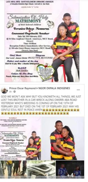 Sad Nigerian man dies in fatal car accident few days to his wedding