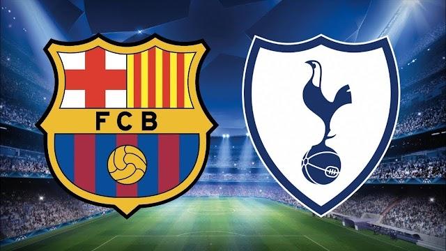 تقديم عن مباراة برشلونة وتوتنهام دوري ابطال اوروبا