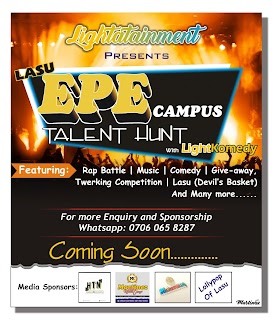 LASU EPE CAMPUS TALENT HUNT WITH LIGHTKOMEDY.