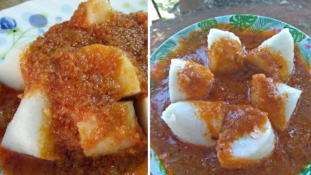 Nasi Impit Kuah Kacang