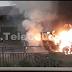 Automóvil se incendia en la vía pública