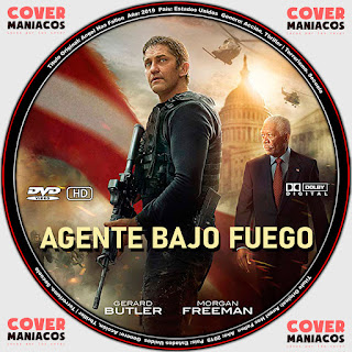GALLETA LABEL  AGENTE BAJO FUEGO - ANGEL HAS FALLEN 2019