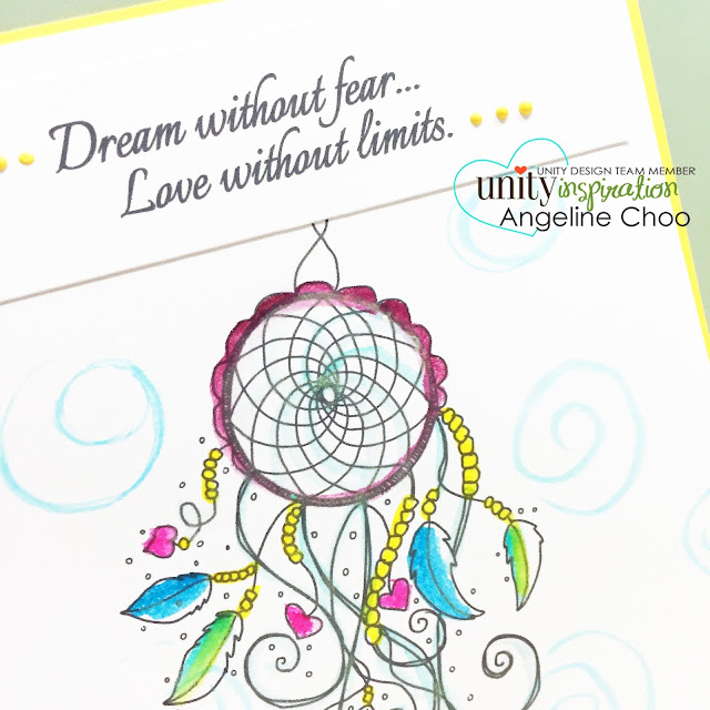 ScrappyScrappy: Dream without fear. Love without limits. #scrappyscrappy #unitystampco #stamp #card #peerless #watercolor #dreamcatcher