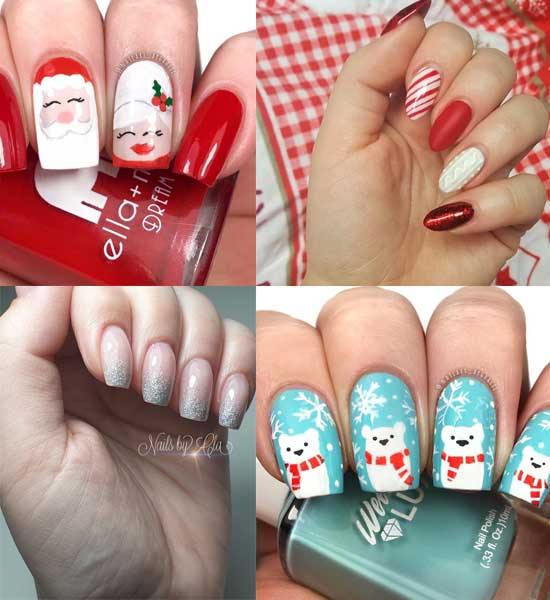 44 Pictures of Christmas Nail Designs 2018-2019 || Cute Nail Designs