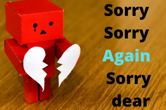 sorry sorry again sorry love