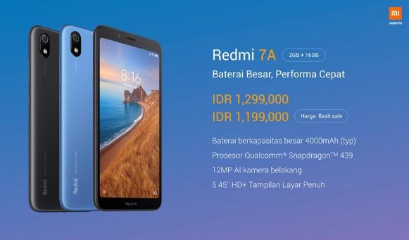 Redmi 7A Resmi Meluncur di Indonesia
