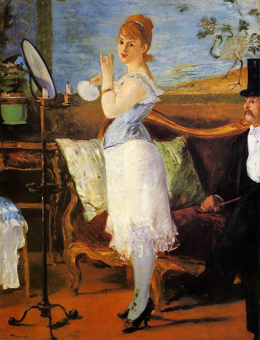 Nana - Pinturas impressionistas pintadas por Édouard Manet