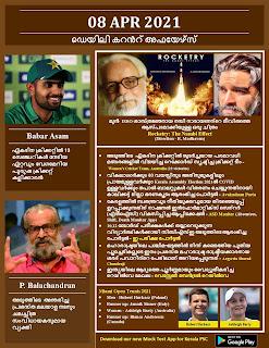 Daily Malayalam Current Affairs 08 Apr 2021