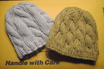 The Bernat baby hat pattern has a touch of lace pattern throughout 516cf7df4f3
