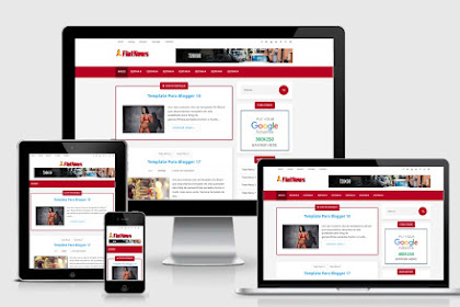 Download FlatNews Elite Template Blogger