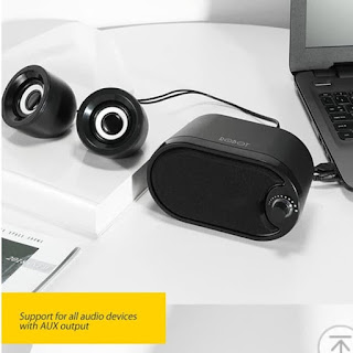 ROBOT RS170 Speaker Portable With LED FOR PC LAPTOP SMARTPHONE