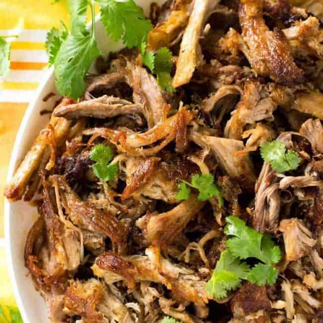 Carnitas (Mexican Slow Cooker Pulled Pork) #pork #slowcooker